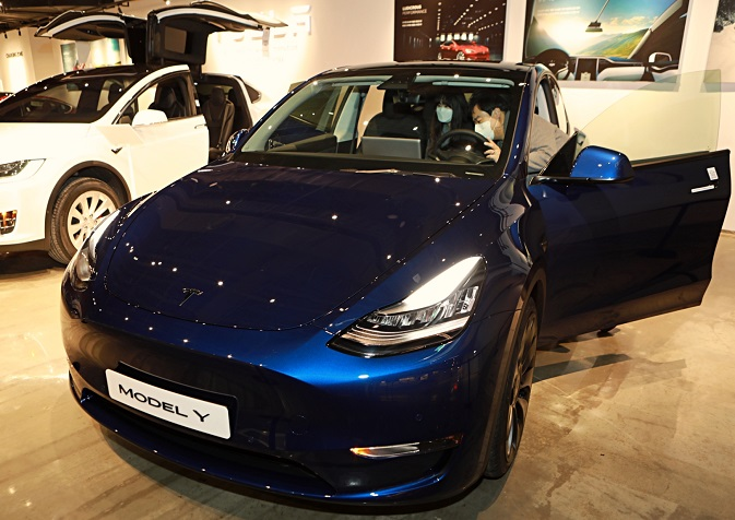 Tesla Launches Model Y in S. Korea