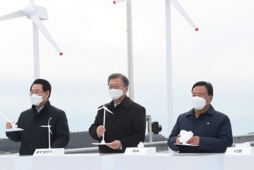 Moon Pledges Full Support for New Sea Wind Energy Project