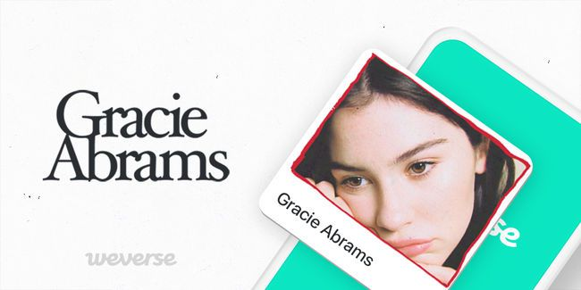 This image, provided by beNX, shows a promotional image marking Gracie Abrams' joining the fan community platform Weverse.