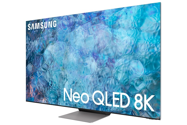 This image provided by Samsung Electronics Co. on March 3, 2021, shows the company's Neo QLED 8K TV.