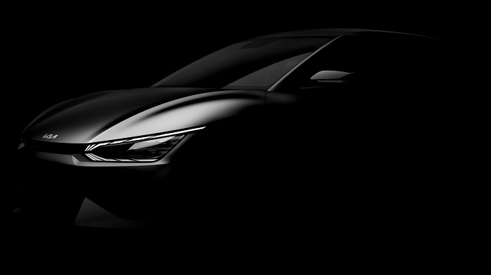 This file photo provided by Kia Corp. shows the front of the EV6 to be unveiled later this month.