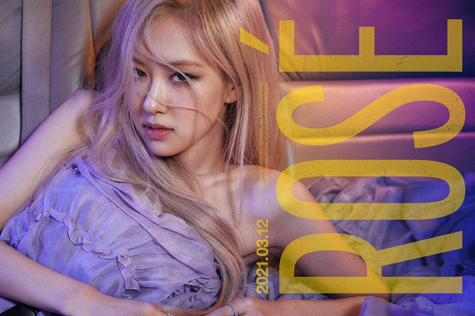 This image, provided by YG Entertainment on March 2, 2021, shows a teaser for BLACKPINK member Rose's upcoming solo album.