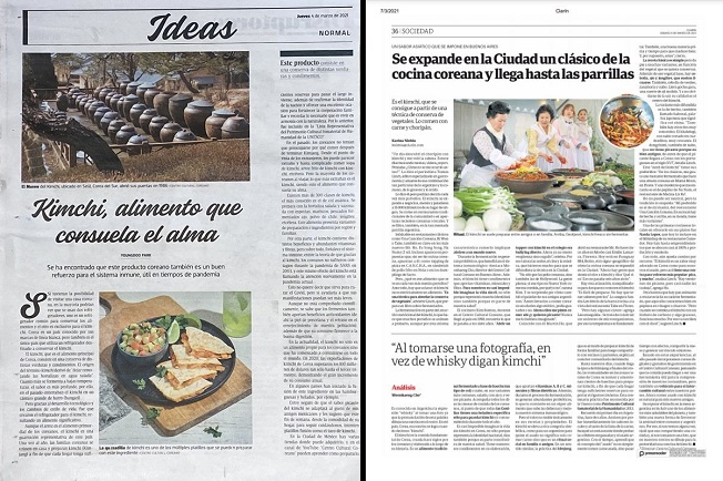 Kimchi Makes Front-page Appearance in Latin American Press