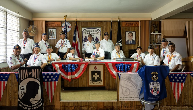 """This photo, provided by Lotte Art Hall, shows """"US Puerto Rico 65th infantry regiment"""" by photographer Rami Hyun."""
