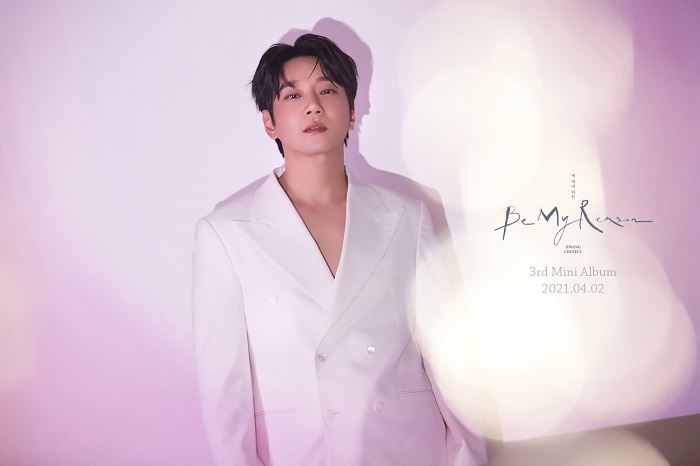 """This photo, provided by Ten2 Entertainment, shows a teaser image for """"Be My Reason,"""" South Korean ballad singer Hwang Chi-yeul's new album set for release on April 2, 2021."""