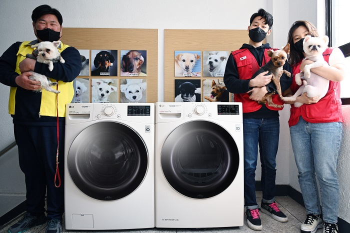 LG Donates Washers and Dryers to Animal Protection Agencies
