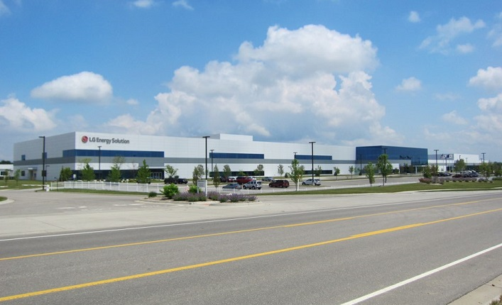 LG Energy Solution Ltd.'s battery manufacturing plant in Michigan, the United States, is shown in this photo provided by the company on Jan. 27, 2021.