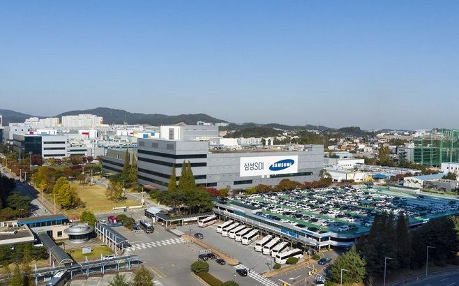 Samsung SDI Co.'s battery production line in Cheonan, 92 kilometers south of Seoul, is shown in this photo provided by the company on May 13, 2020.