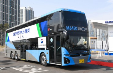 Korean Double-decker Electric Bus to Begin Operations