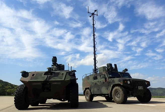 This photo provided by the Defense Acquisition Administration (DAPA) on April 22, 2021, shows unmanned surveillance vehicles under development that will deployed by around 2027.