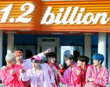 BTS Hit 'Boy With Luv' Breaks 1.2 bln YouTube Views