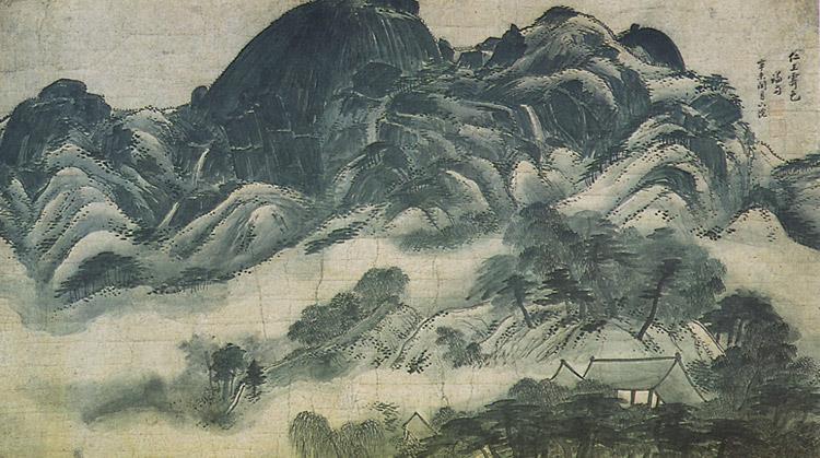 "This image, provided by the Cultural Heritage Administration, shows South Korea's National Treasure No. 216 ""Inwang Jesaekdo."""