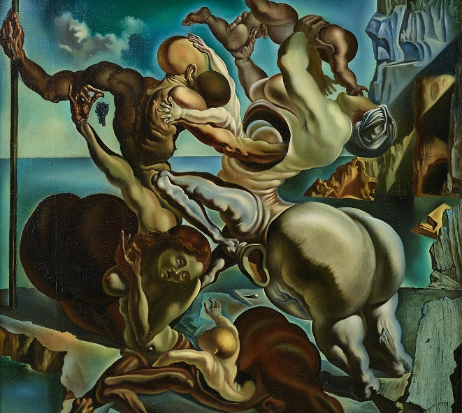"""This image, provided by the Ministry of Culture, Sports and Tourism, shows Salvador Dali's 1940 painting """"Family of marsupial Centaurs."""""""