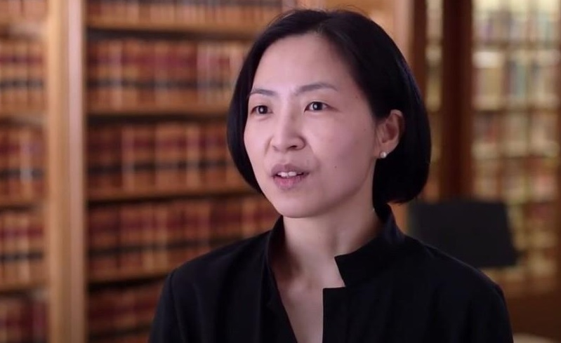 This photo, captured from YouTube, shows Lee Jinhee, associate professor of history at Eastern Illinois University.