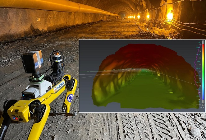 POSCO E&C to Deploy Walking Robot for Tunnel Construction Safety Management