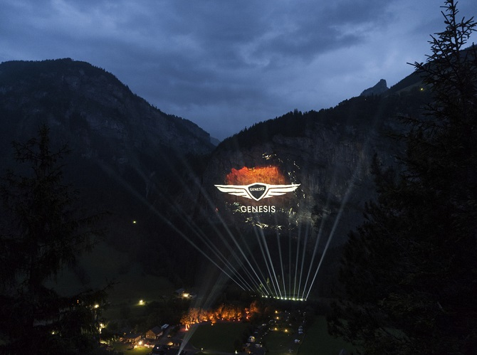 New Rules of Car Ownership Set in Stone: Biggest-Ever 3d Projection in the Swiss Alps Marks Arrival of Luxury Carmaker Genesis in Europe