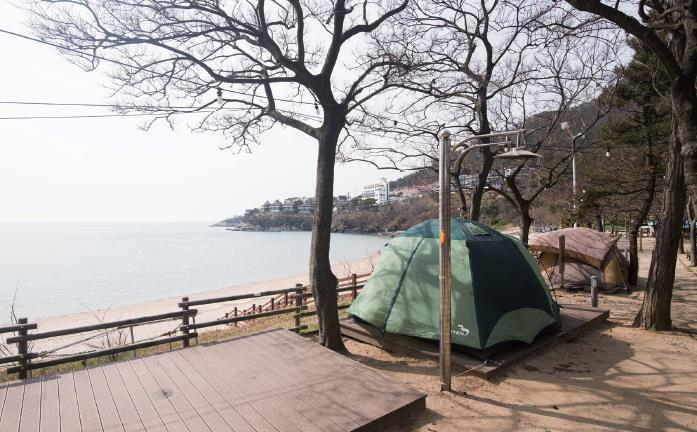 Every weekend, people engage in fierce competitions to take over remaining spots at campgrounds due to these empty tents taking up unnecessary space. (Yonhap)