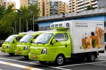 Hyundai Motor Begins Food Delivery with Porter Electric Trucks