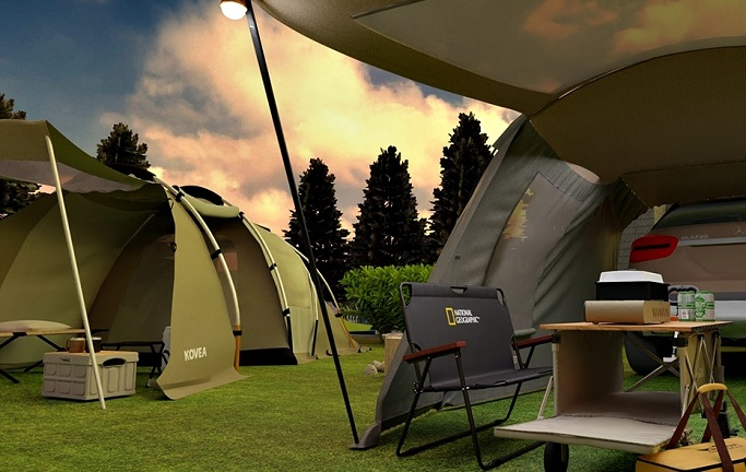 Lotte Home Shopping Introduces 'Virtual Camp Site' for Virtual Shopping Experience
