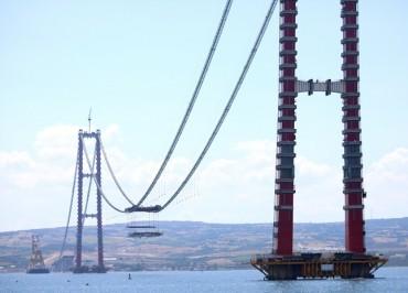 World's Longest Suspension Bridge Enters Last Phase of Construction