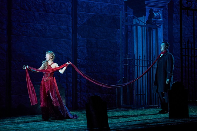 """This photo provided by OD Co. shows a scene from """"Dracula, the Musical."""""""