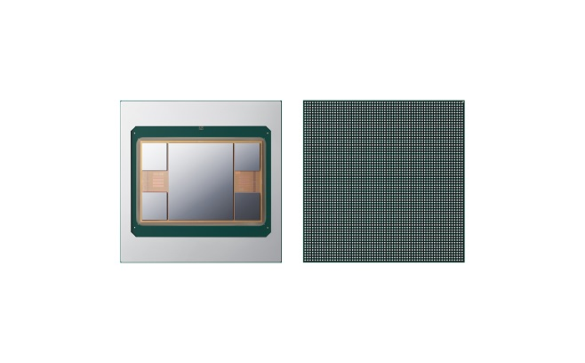 This photo, provided by Samsung Electronics Co. on May 6, 2021, shows its next-generation 2.5D chip packaging technology, Interposer-Cube4 (I-Cube4).