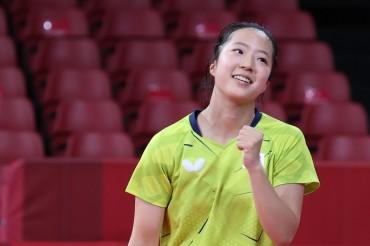 (Olympics) BTS Member V Roots for S. Korean Table Tennis Teen Phenom