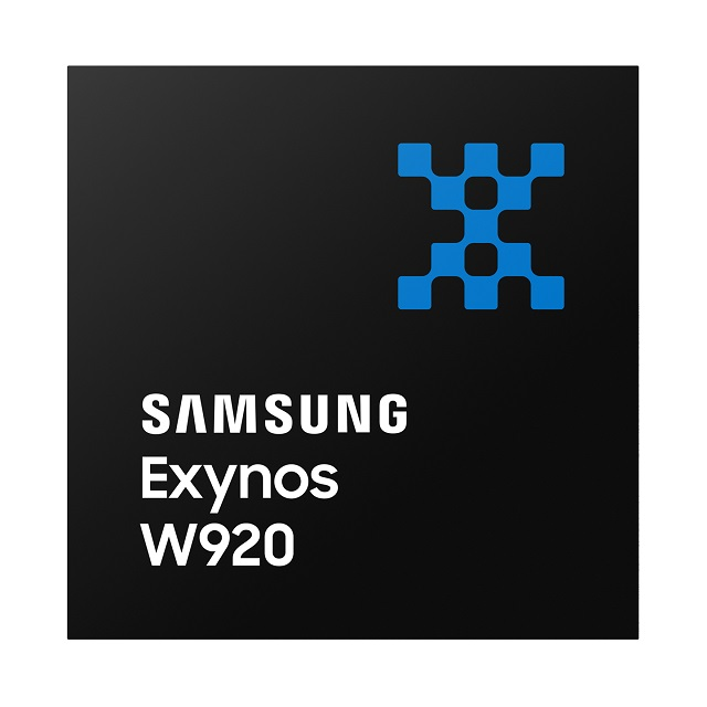 This image provided by Samsung Electronics Co. on Aug. 10, 2021, shows the Exynos W920 processor for wearable devices.