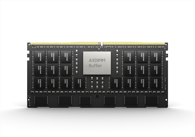 This photo provided by Samsung Electronics Co. on Aug. 24, 2021, shows its Acceleration DIMM product.