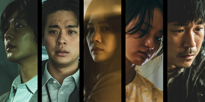"""This image provided by the Busan International Film Festival shows characters from Netflix's """"Hellbound."""""""