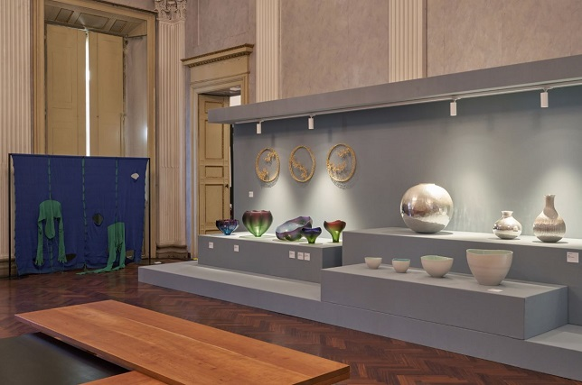 This photo, provided by the Korea Craft and Design Foundation, shows Korean craftworks on display at the Palazzo Litta in Milan, Italy.