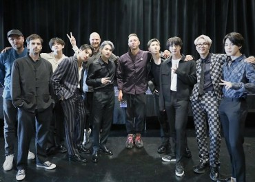 BTS Reunites with Coldplay in New York
