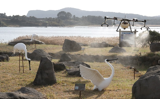 Drones Fly High on Jeju, Playing a Part in Various Search and Disinfection Activities