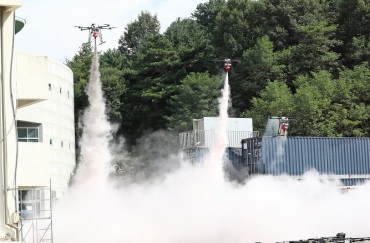 Collective Drones Deployed to Fight Fires at High-rise Buildings