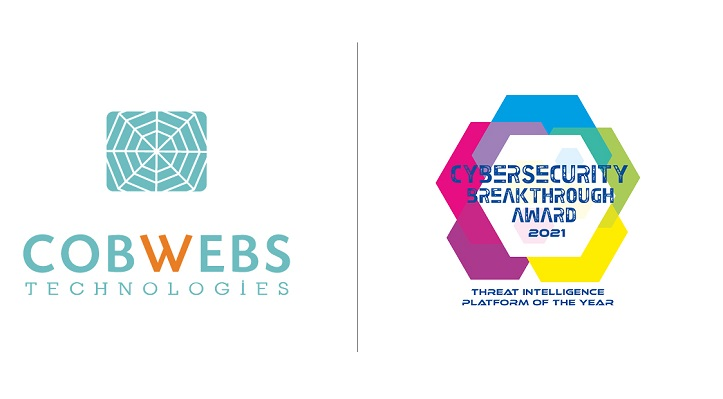Cobwebs Technologies Named 'Threat Intelligence Platform of the Year' in 2021 CyberSecurity Breakthrough Awards Program