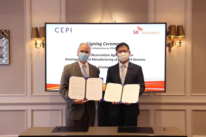 SK Bioscience Extends Manufacturing Deal with CEPI