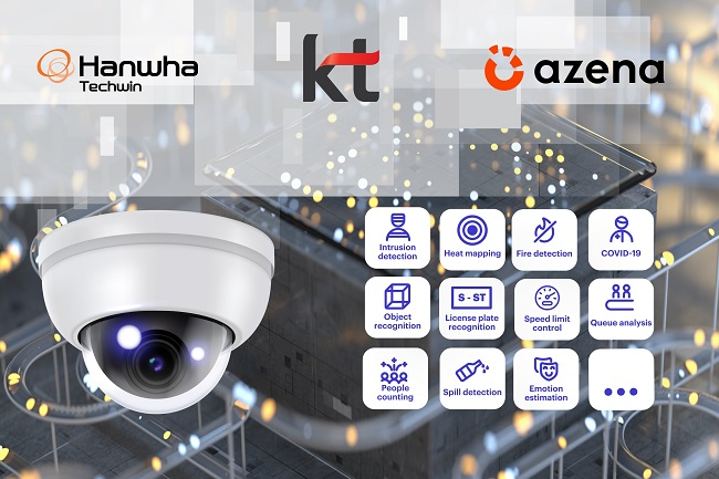 Hanwha Techwin Partners with Azena, KT for AI Video Solutions