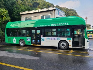 Gyeonggi Province Rolls Out First Hydrogen Fuel-cell Bus in Ansan
